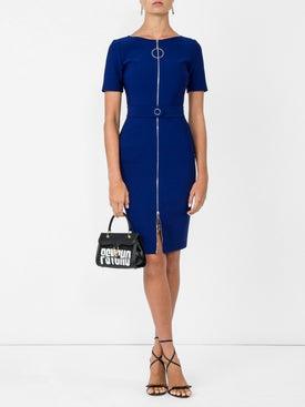 Mugler - Ring Pull Fitted Dress Cobalt Blue - Women