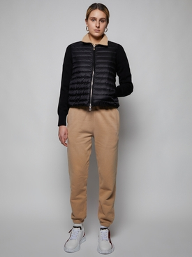 Black tricot cardigan