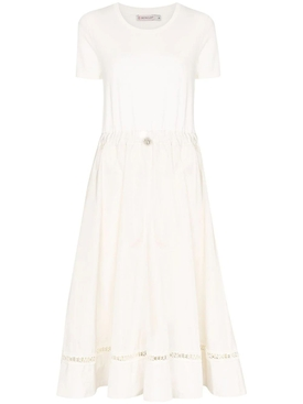 logo trim midi dress