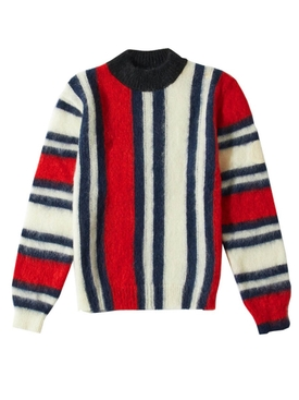 2 Moncler 1952 Striped Alpine Sweater