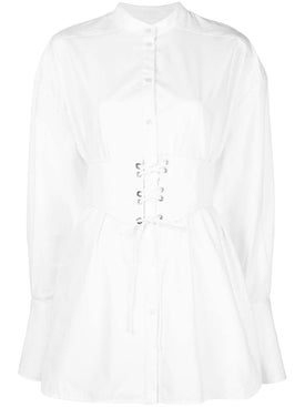 Ellery - White Corset Belt Shirt - Long Sleeved