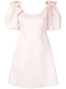 Valeria bubble-sleeve dress