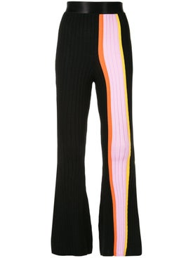 Ellery - Striped Panel Flared Trousers - Women