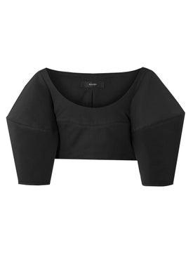 Ellery - Bubble Crop Top Black - Cropped