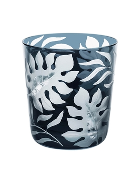 Dark grey Medium Tropica glass tumbler