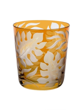 Yellow Medium Tropica glass tumbler