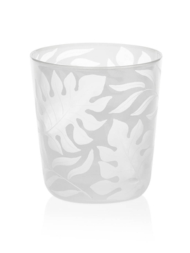 Milk White Medium Tropica glass tumbler