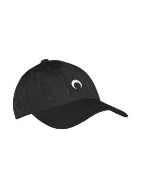 MOIRE BRANDED CAP black