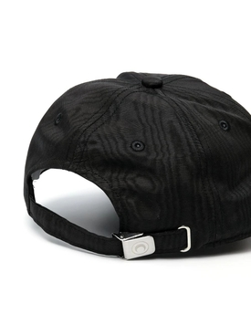 BLACK AND WHITE MOIRE LOGO BASEBALL CAP
