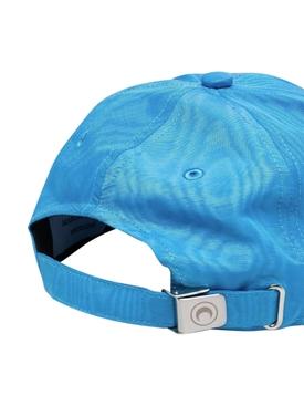 MOIRE LOGO DETAIL BASEBALL CAP, COBALT