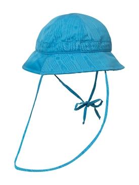 PROTECTIVE VISOR MOIRE BELL BUCKET HAT, BLUE COBALT