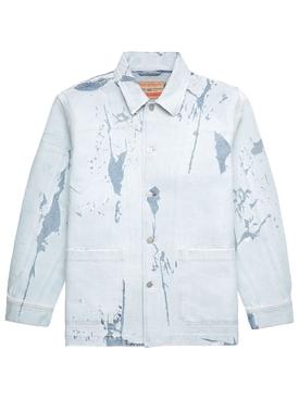 Rolk Distressed Effect Denim Jacket Light Blue