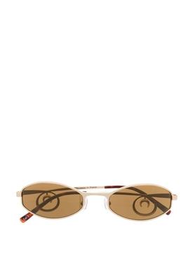 Swirl oval sunglasses GOLD