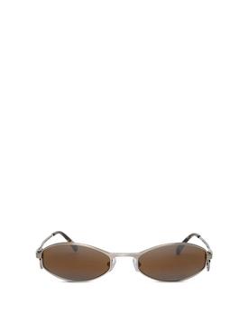 Swirl oval sunglasses black