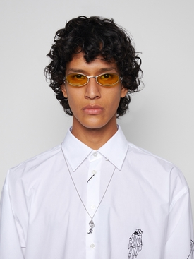 Swirl oval sunglasses silver