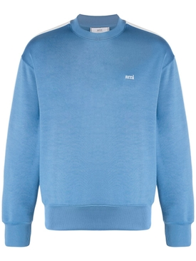Technical track logo crewneck sweatshirt BLUE