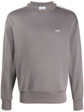 Technical track logo crewneck sweatshirt DARK GREY