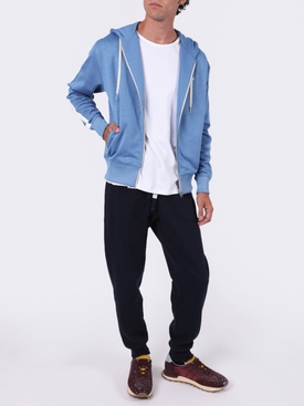 Technical Hooded track jacket BLUE