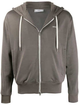 Technical Hooded track jacket DARK GREY