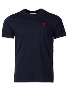 Classic AMI De Coeur T-shirt, Navy