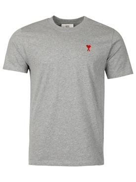 Classic AMI De Coeur T-shirt, Heather Grey