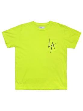 LA Slash Pocket Tee Neon Yellow