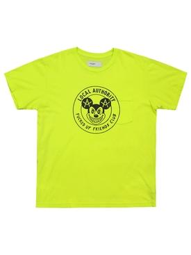 Mischief Crest Pocket Tee Neon Yellow