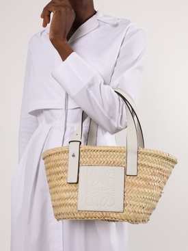 Small Basket Bag, White