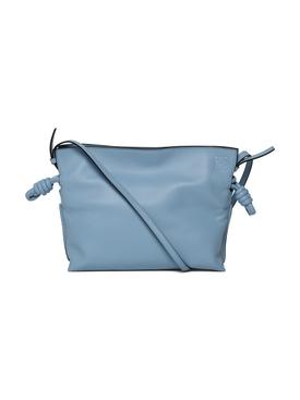 Mini Flamenco Leather Clutch LIGHT BLUE