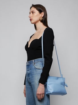 Mini Flamenco Leather Clutch LIGHT BLUE