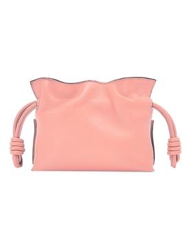 Nano Flamenco Leather Clutch Blossom Pink