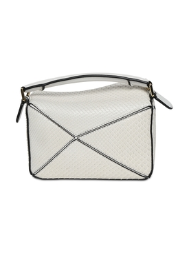 Mini Puzzle Snakeskin Bag SOFT WHITE