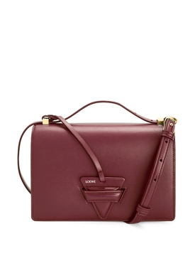 LEATHER BARCELONA BAG Berry