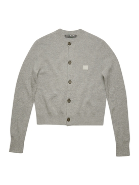 Grey Melange Wool Cardigan