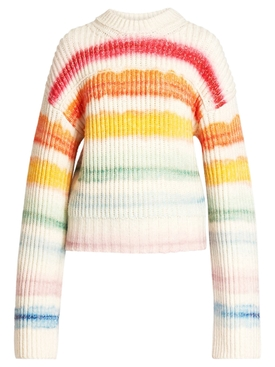 WATERCOLOR STRIPED KNIT SWEATER