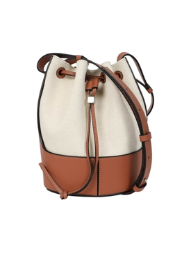 Loewe - Ivory And Brown Balloon Bag - Women