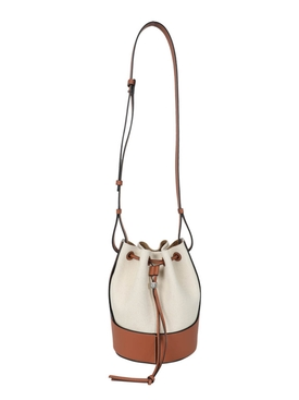 Ivory and Brown Balloon Bag