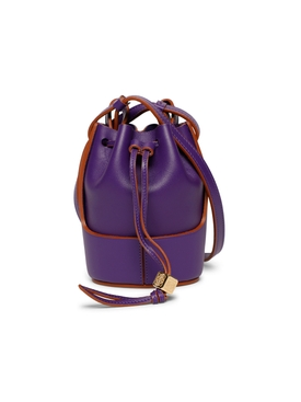 NANO BALLOON BUCKET BAG, PURPLE
