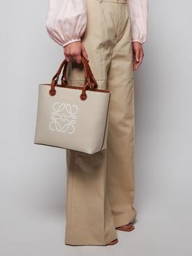 Small Anagram tote bag, ECRU
