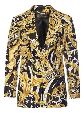 Baroque print blazer