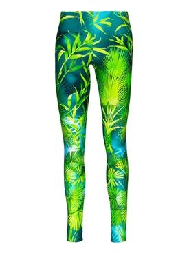 Green Jungle Print Leggings