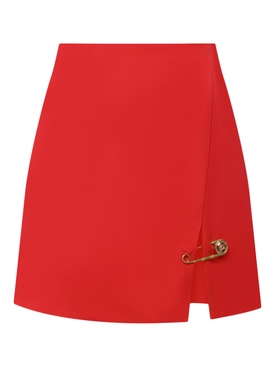 Safety Pin Accent Mini Skirt