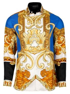 Silk Medusa Renaissance Print Shirt