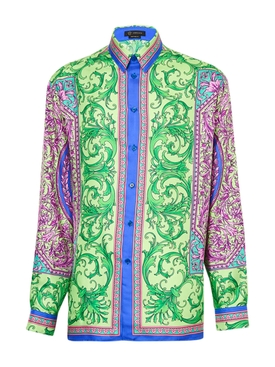 Le Pop Multicolored Silk Shirt