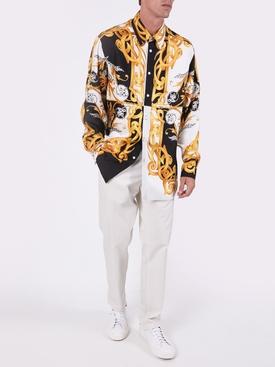Barocco silk short sleeve top
