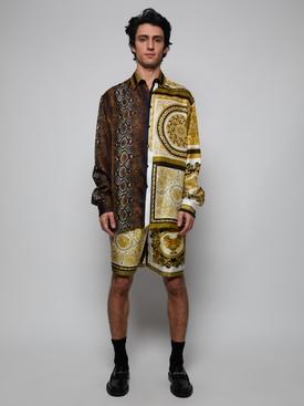 Silk Bandana Print Shirts BROWN GOLD
