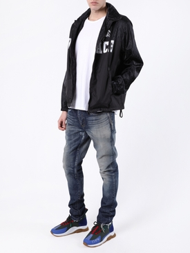 Black zipped logo jacket