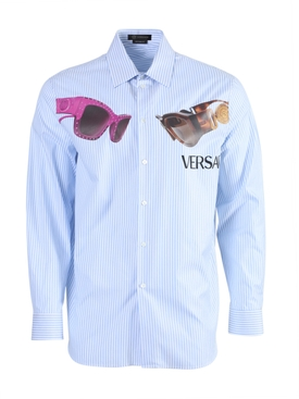 Striped sunglasses print shirt