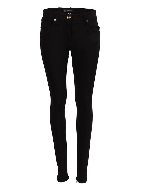 Versace Black Fitted Denim Skinny Jeans