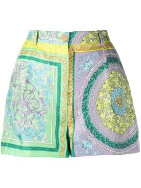 Barocco Mosaic Silk Shorts